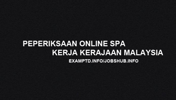 Peperiksaan Online SPA