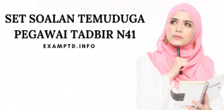 Contoh Soalan Temuduga Pegawai Tadbir N41