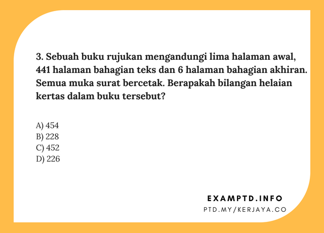 Contoh Soalan Matematik PTD