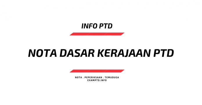 Nota Dasar Kerajaan Soalan PTD